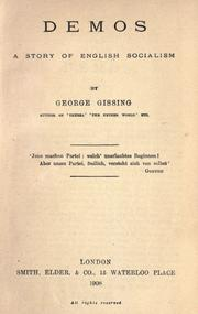 Cover of: Demos by George Gissing