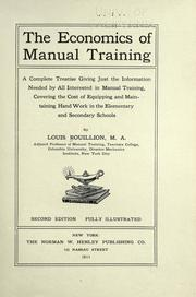 economics of manual training