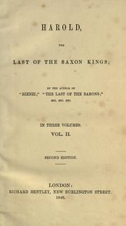 Harold, the last of the Saxon kings by Edward Bulwer Lytton