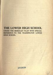 The [Washington] lower high school, [Berkeley, California.] PDF