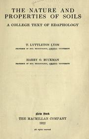 The nature and properties of soils by T. L. Lyon