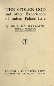 The stolen god and other experiences of Indian palace life PDF