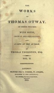 The works of Thomas Otway PDF