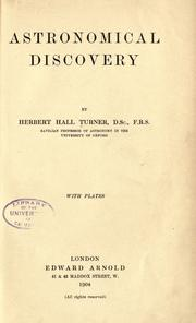Astronomical discovery by H. H. Turner