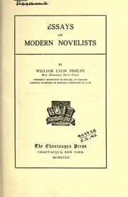 Essays on modern novelists by William Lyon Phelps