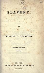Slavery by William Ellery Channing