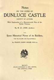 Notes on the ruins of Dunluce Castle[,] county of Antrim PDF