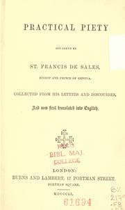 Practical piety set forth by St. Francis of Sales PDF