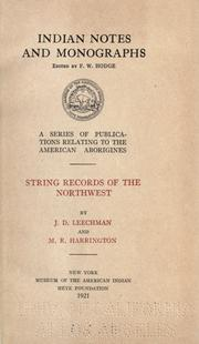 String records of the Northwest PDF