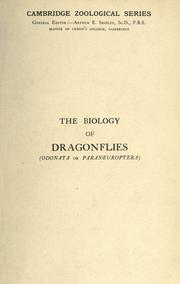 The biology of dragonflies by Robert John Tillyard
