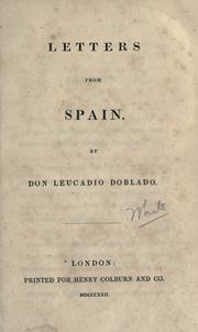 Letters from Spain by Joseph Blanco White