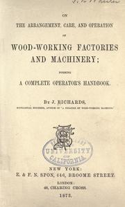 On the arrangement, care, and operation of wood-working factories and machinery PDF