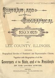 Cover of: Portrait and biographical record of Lee County, Illinois by