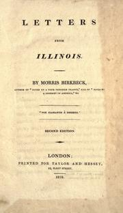 Letters from Illinois by Morris Birkbeck