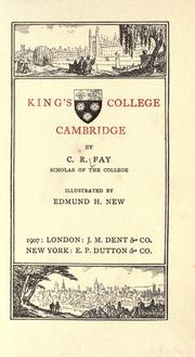 Cover of: King's college, Cambridge by Fay, C. R.