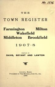 Cover of: The Town register by compiled by Davis, Bryant and Lawton.