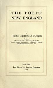 The poets' New England PDF