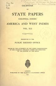 Cover of: Colonial Records.  Calendar of State Papers, Colonial by Public Record Office