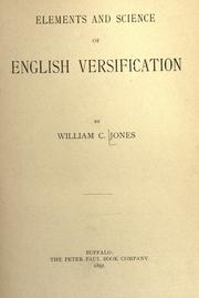 Elements and science of English versification