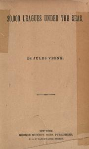 Cover of: 20,000 leagues under the seas by Jules Verne
