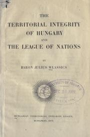 The territorial integrity of Hungary and the League of Nations PDF