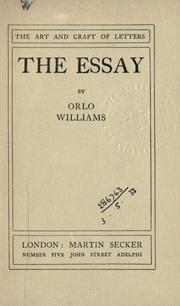 The essay by Orlo Williams