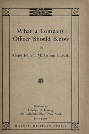 What a company officer should know PDF