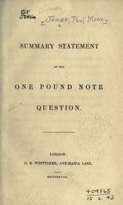 A summary statement of the one pound note question PDF