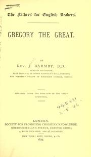 Gregory the Great by Barmby, J.