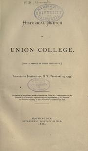 Historical sketch of Union college by Franklin Benjamin Hough
