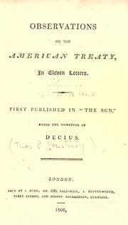 Observations on the American Treaty, in eleven letters PDF