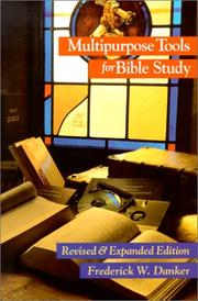 Multipurpose tools for Bible study by Frederick W. Danker