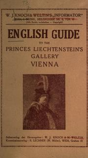 Cover of: English guide to the Princes by Vienna. F©·urstlich Liechtensteinsche gem©·alde-galeri