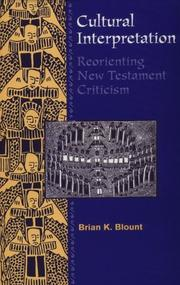 Cultural interpretation by Brian K. Blount