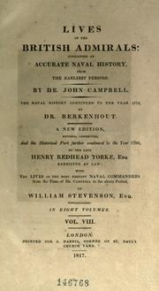 Lives of the British admirals by Campbell, John