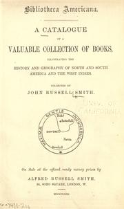 Cover of: Bibliotheca Americana by Smith, John Russell
