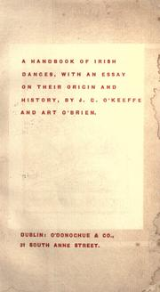 Cover of: A handbook of Irish dances by J. G. O'Keeffe