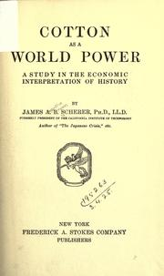 Cotton as a world power PDF