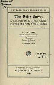 The Boise survey by Jesse Brundage Sears