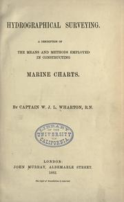 Hydrographical surveying by W. J. L. Wharton