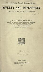 Cover of: Poverty and dependency by John Lewis Gillin