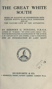 The great white South by Herbert George Ponting