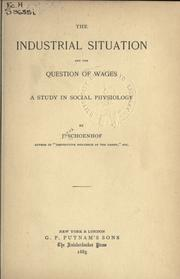 The industrial situation and the question of wages, a study in social physiology PDF