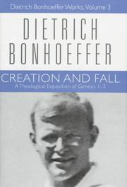 Schpfung und Fall by Dietrich Bonhoeffer