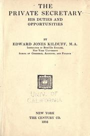 The private secretary by Edward Jones Kilduff