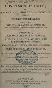 Cover of: The confession of faith by Church of Scotland.