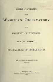 Observations of double stars [1892-1919] by Comstock, George C.