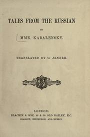 Tales from the Russian PDF