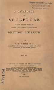 A catalogue of sculpture in the department of Greek and Roman antiquities,British Museum PDF