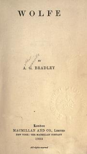 Wolfe by A. G. Bradley